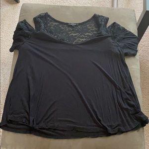 Flash Sale $4/20 Lace cold shoulder top